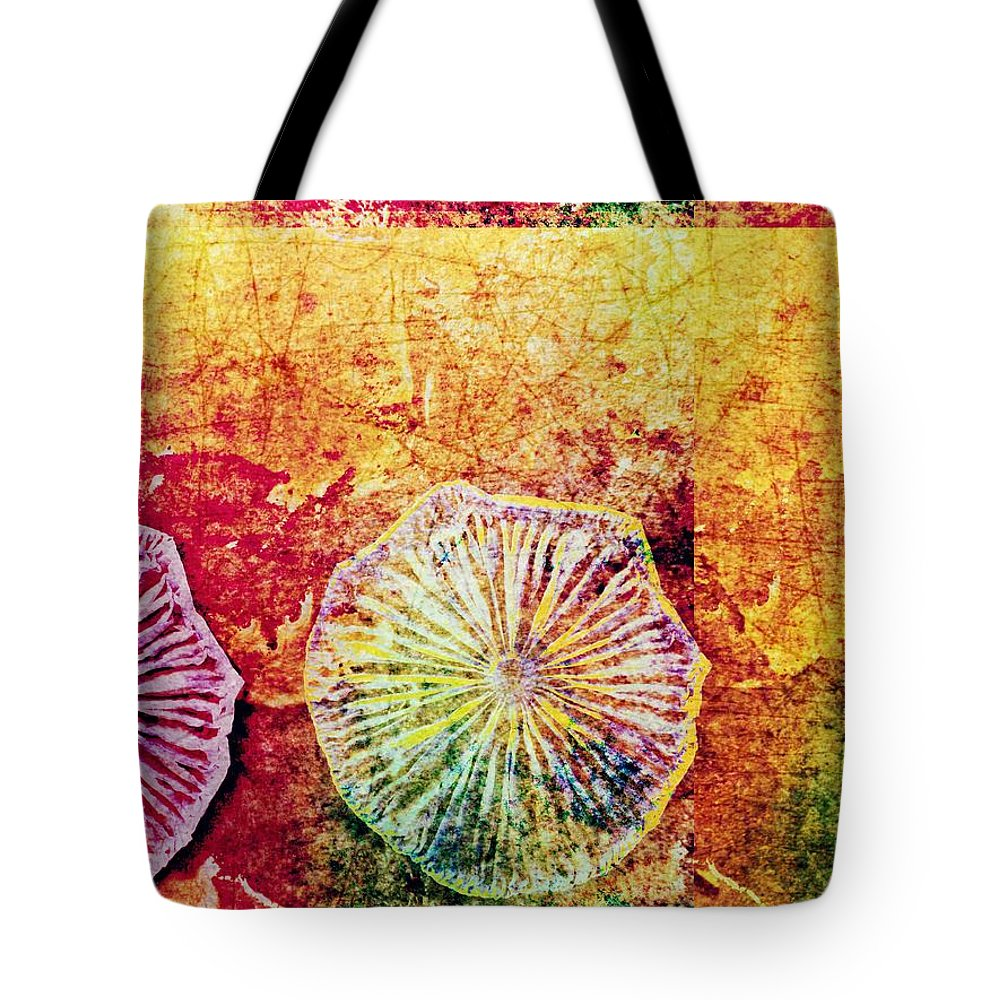 Nature Abstract Tote Bag featuring the digital art Nature Abstract 44 by Maria Huntley