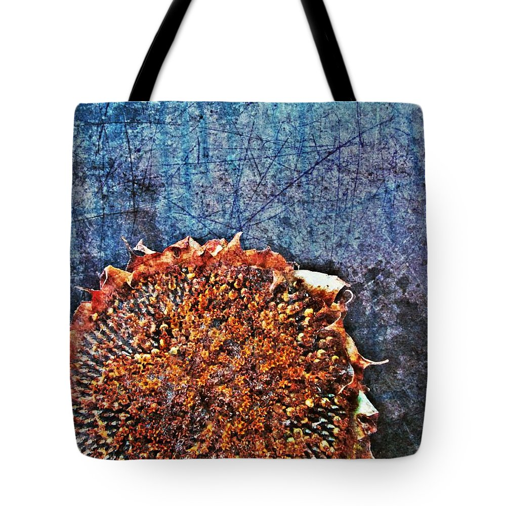 Nature Abstract Tote Bag featuring the digital art Nature Abstract 47 by Maria Huntley