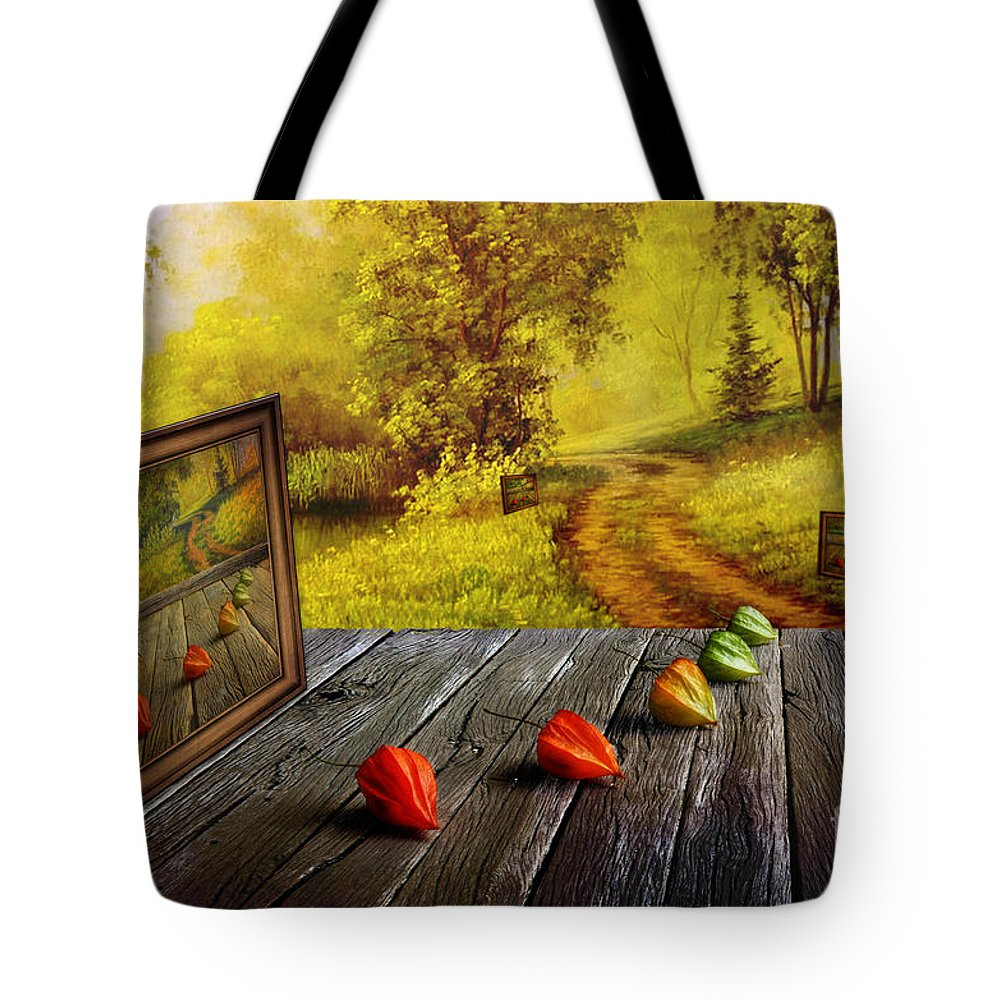 Artist Tote Bag featuring the digital art Nature Exhibition by Veikko Suikkanen