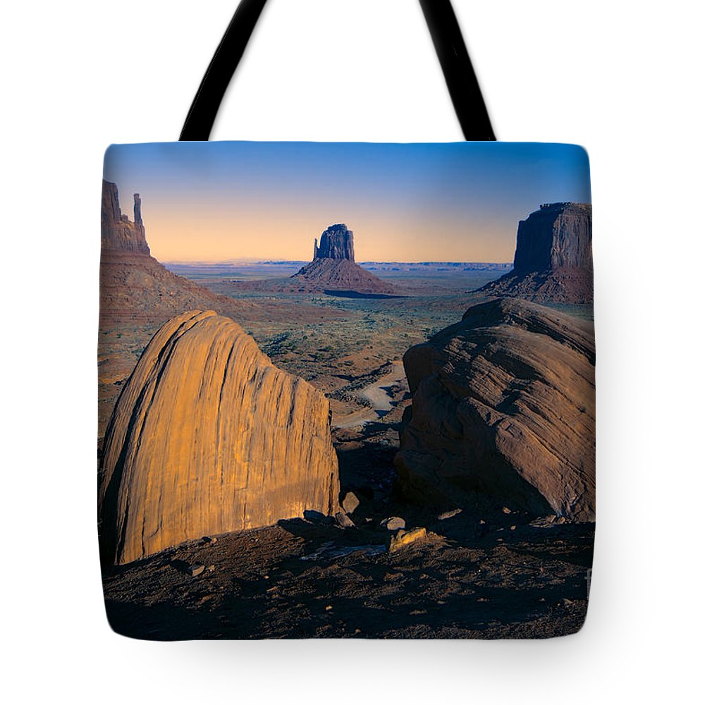 Monument Valley Tote Bag featuring the photograph Nature's Architecture by Douglas Barnard