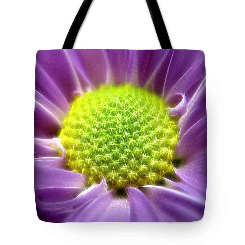 Photo Tote Bag featuring the digital art Nature's Bling by Rhonda Barrett