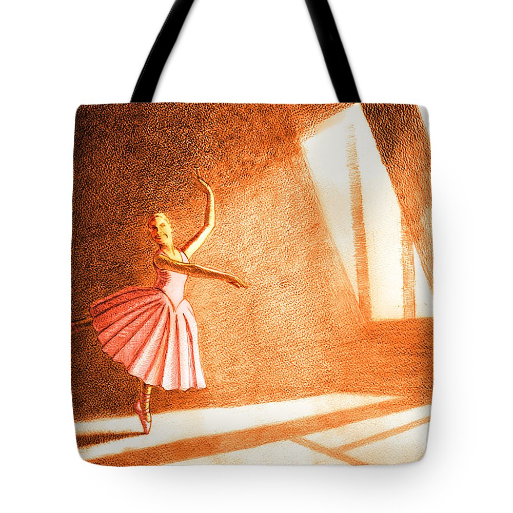 Dancer Tote Bag featuring the painting Natures Spotlight 1 by Mark Jenkinson