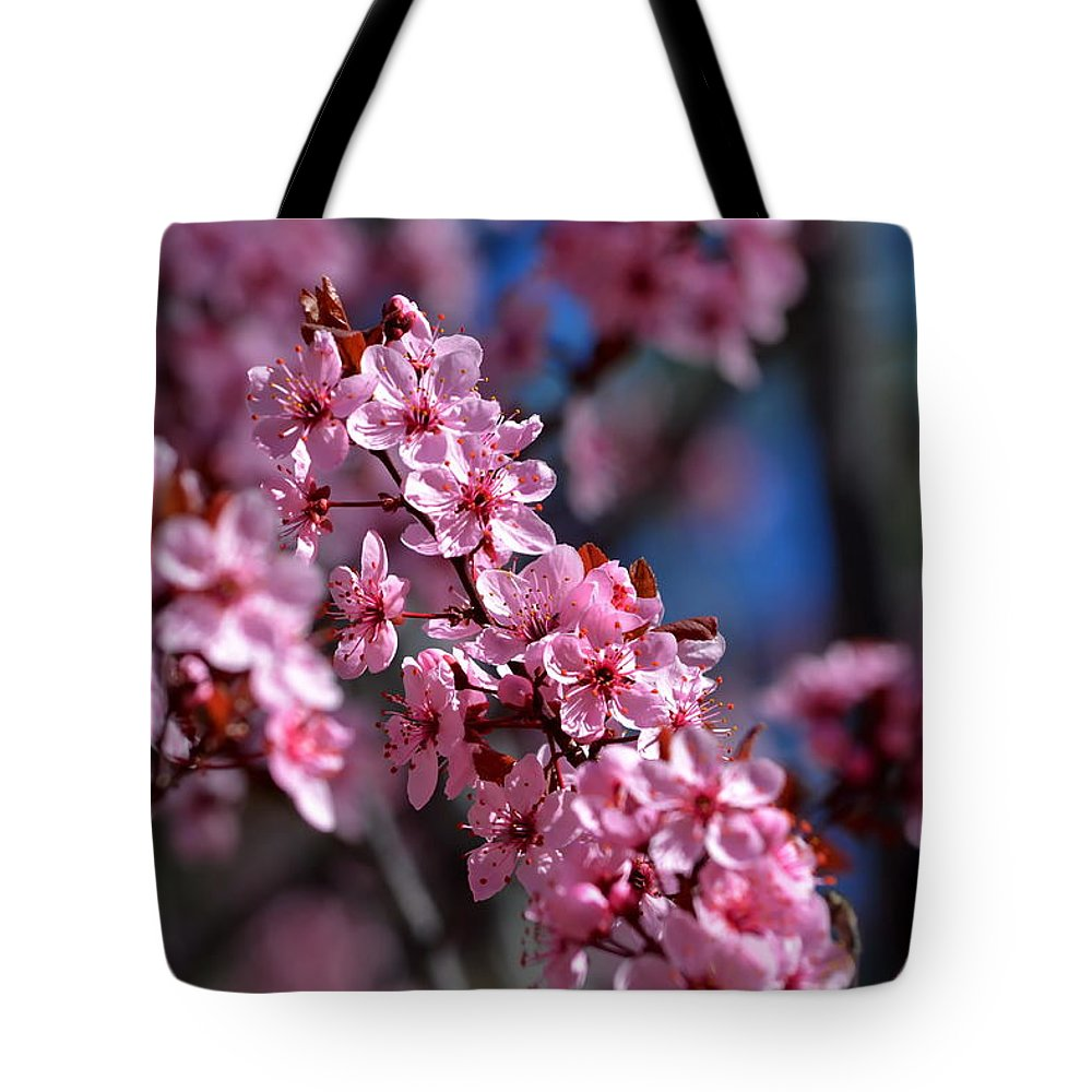 Flowers Tote Bag featuring the photograph Nature's Stained Glass by Ron D Johnson