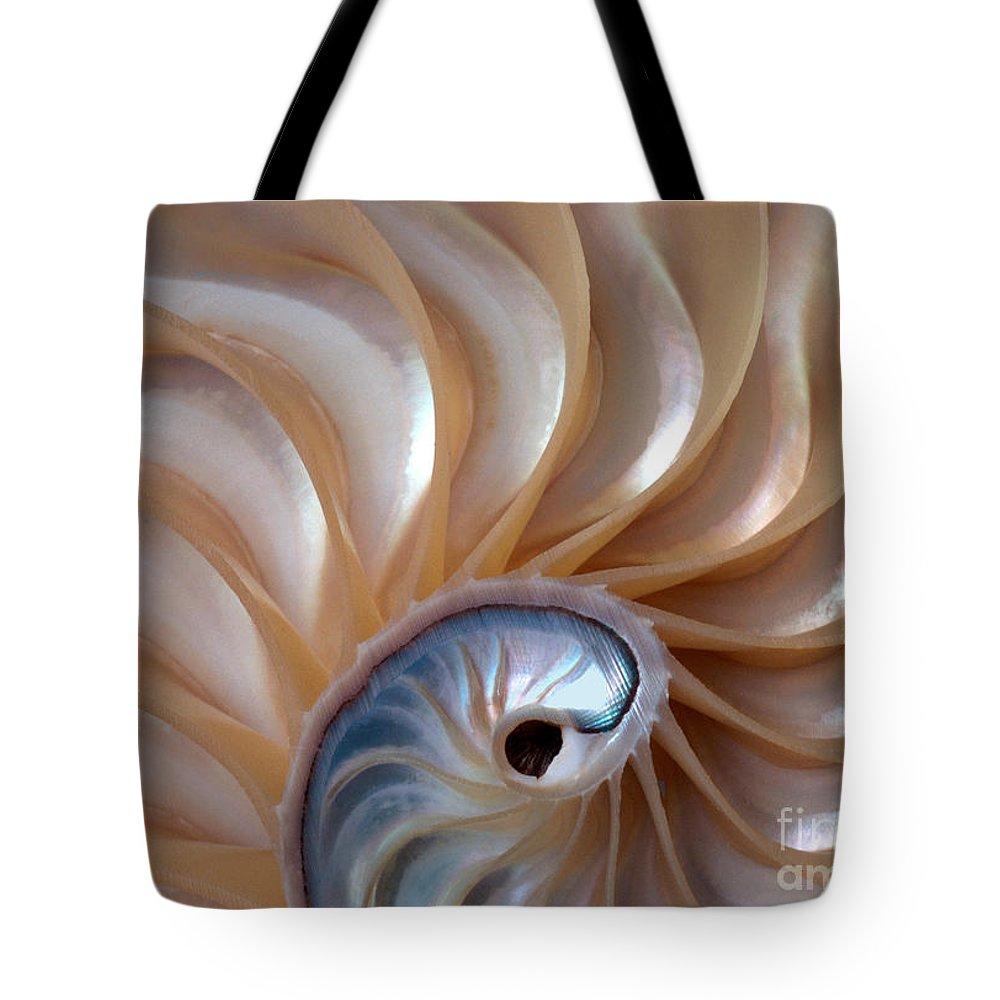 Shell Tote Bag featuring the photograph Nautilus Wave by Alice Cahill