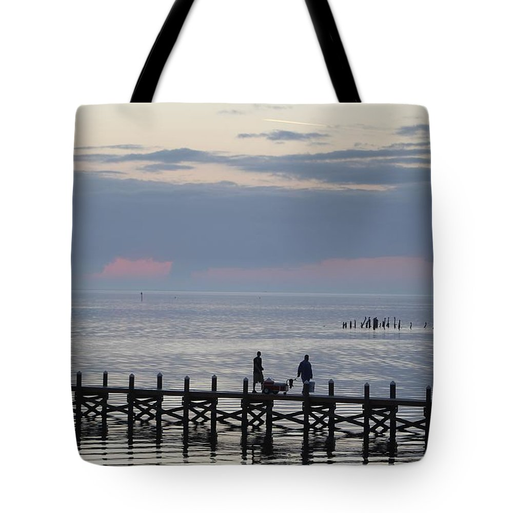 Navarre Beach Pier Tote Bag featuring the photograph Navarre Beach Sunset Pier 11 by Michelle Powell