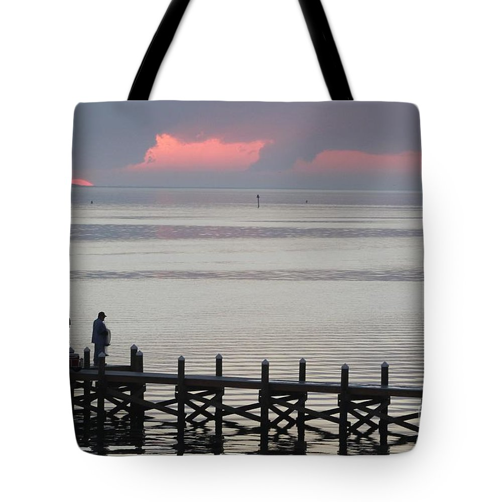 Navarre Beach Pier Tote Bag featuring the photograph Navarre Beach Sunset Pier 20 by Michelle Powell