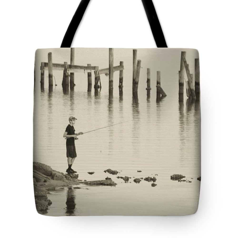 Navarre Beach Pier Tote Bag featuring the photograph Navrre Beach Sunset Pier 5 by Michelle Powell