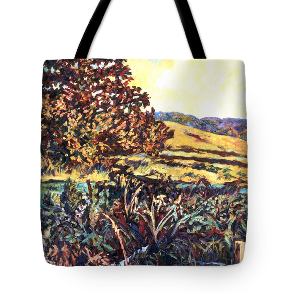 Landscape Tote Bag featuring the painting Near Childress by Kendall Kessler