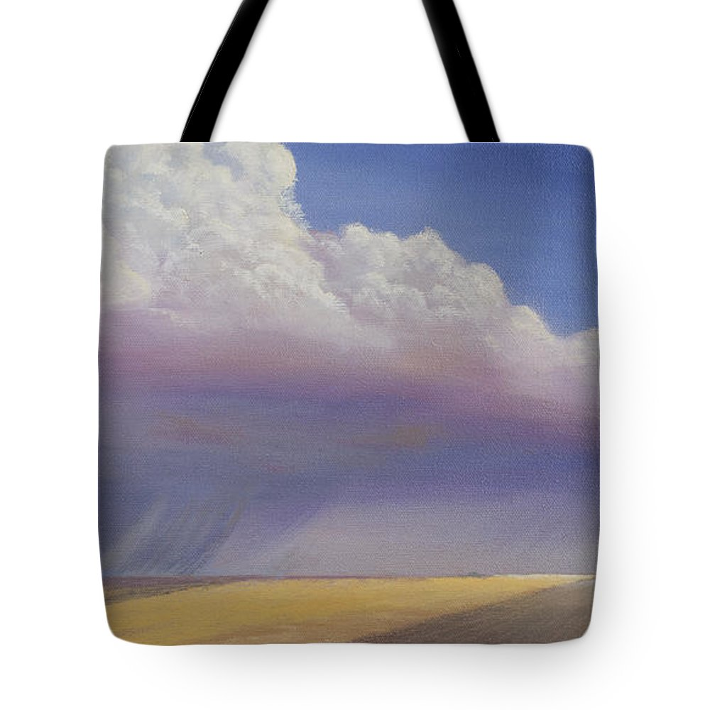 Landscape Tote Bag featuring the painting Nebraska Vista by Jerry McElroy