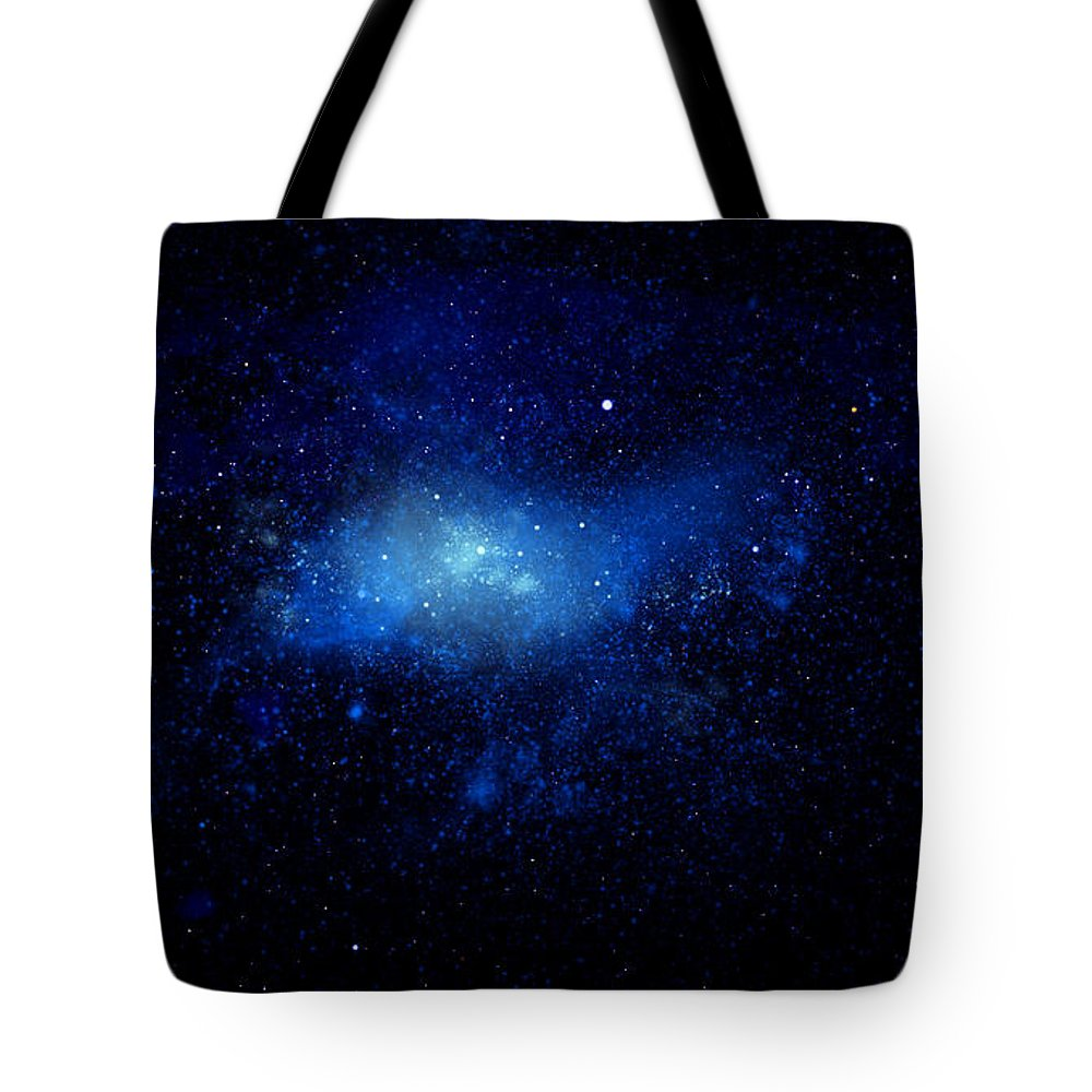Nebula Ceiling Mural Tote Bag featuring the painting Nebula Ceiling Mural by Frank Wilson