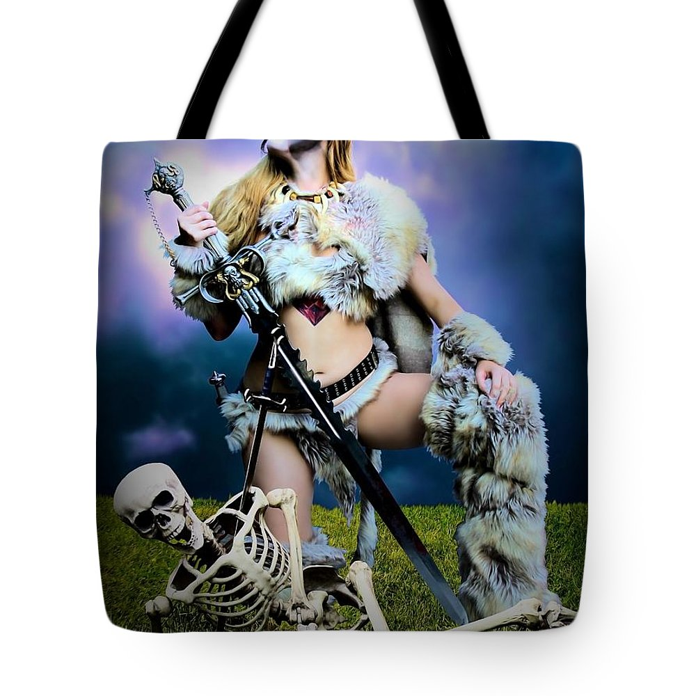 Sexy Tote Bag featuring the photograph Necromancer On The Killing Fields by Jon Volden