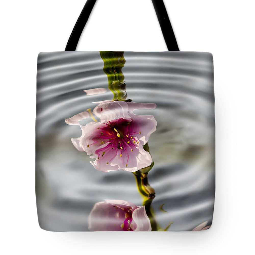 Still Life Tote Bag featuring the photograph Nectarine Ripples by Steev Stamford