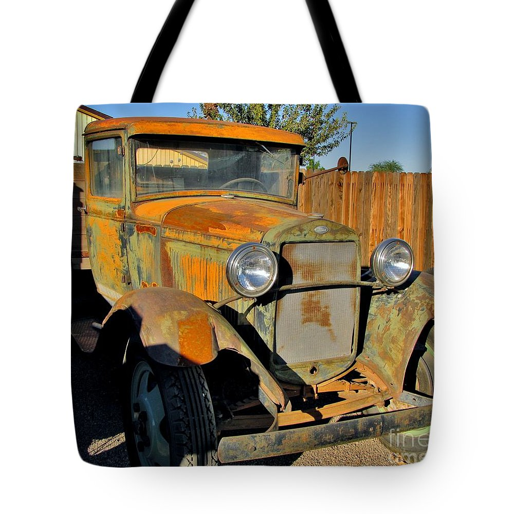 Vintage Ford Truck Tote Bag featuring the photograph Needs Tlc by Marilyn Smith