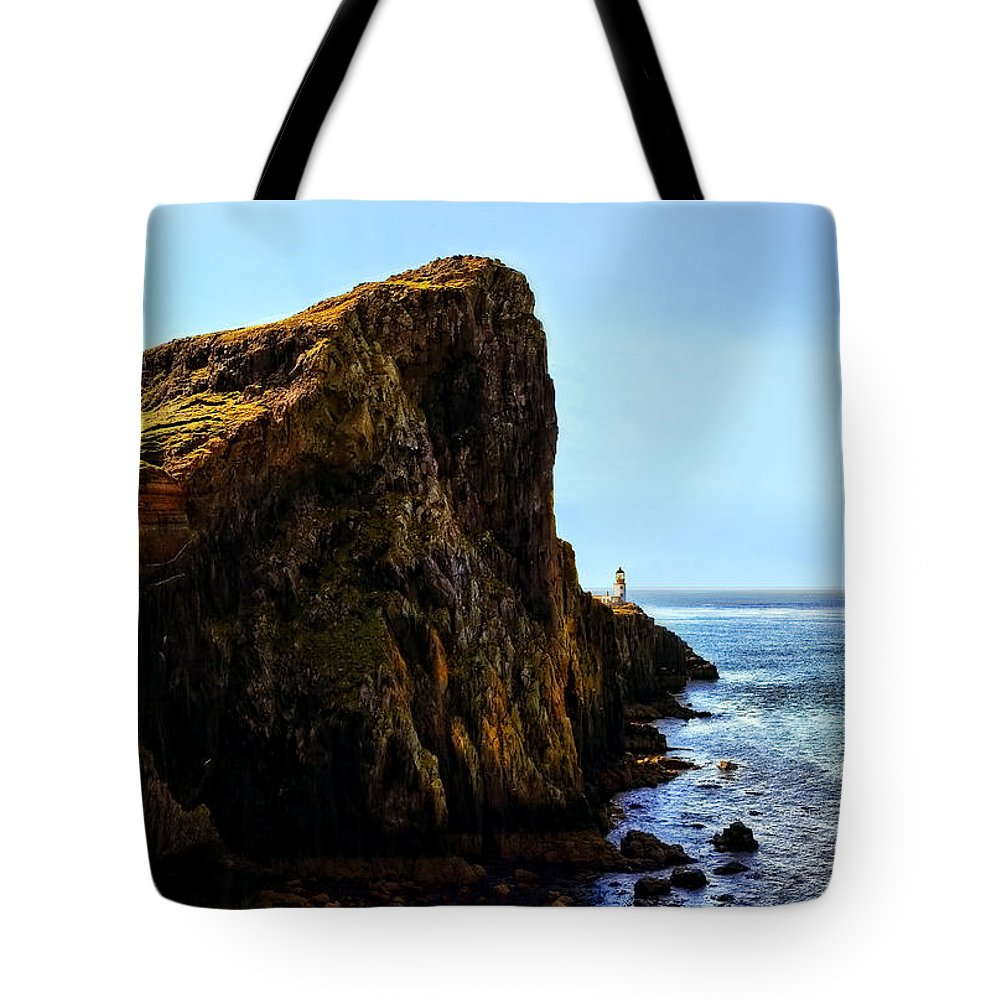Landscape Tote Bag featuring the photograph Neist Point by Marcia Colelli