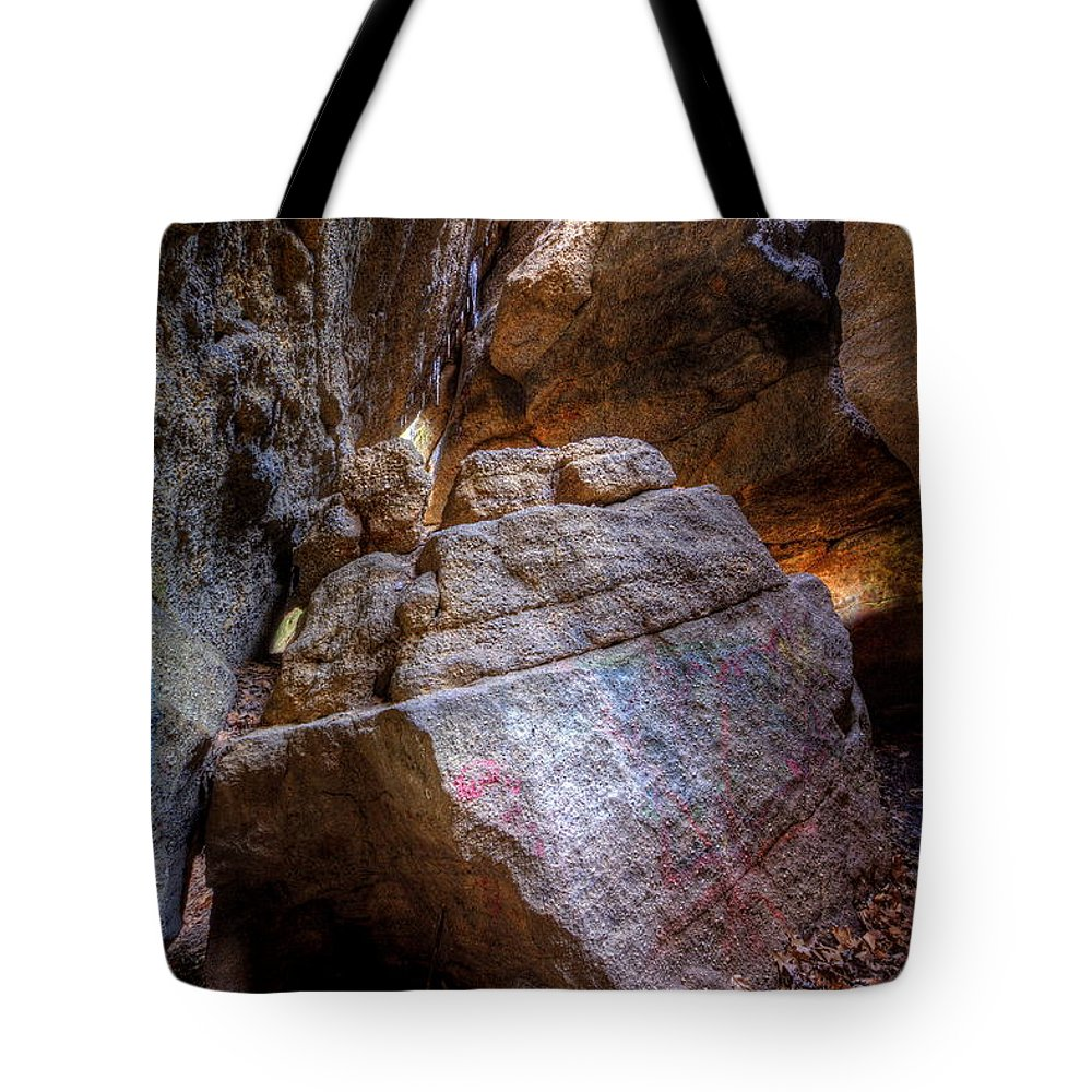 Cave Tote Bag featuring the photograph Nelson Kennedy Ledges by David Dufresne