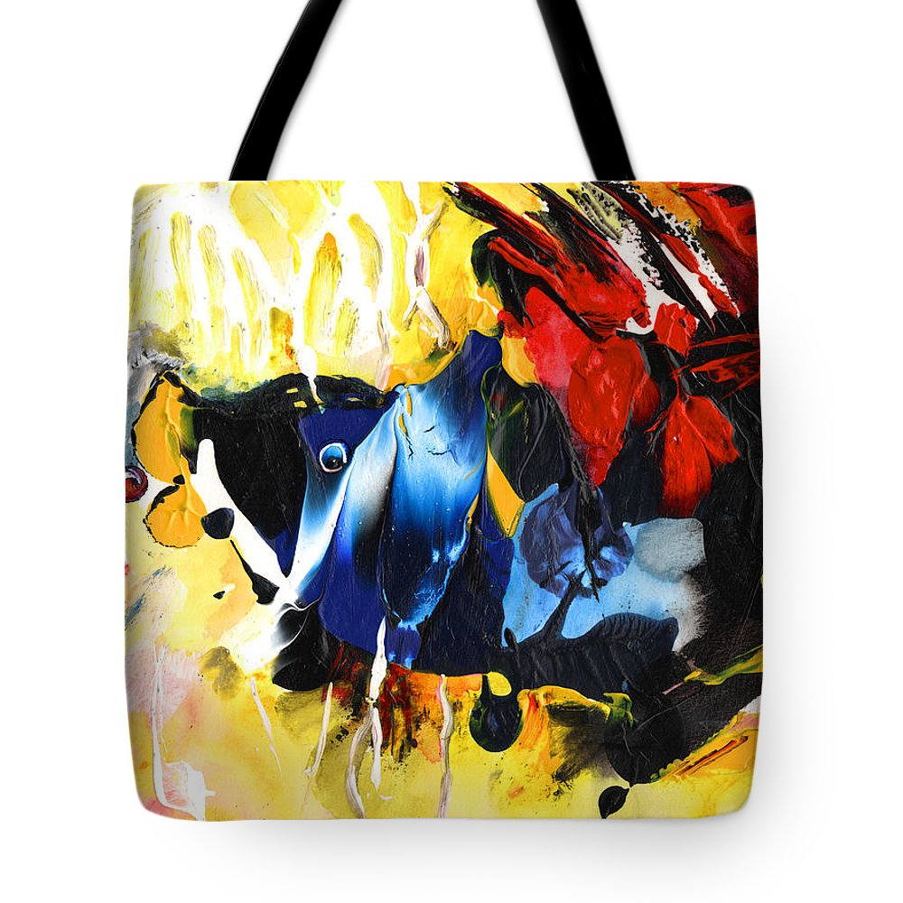 Acrylics Tote Bag featuring the painting Nemo Finding Redbubble by Miki De Goodaboom