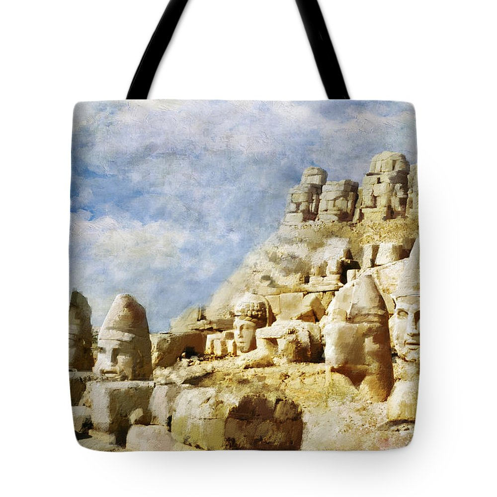 Tote Bag featuring the painting Nemrut Dag by Catf