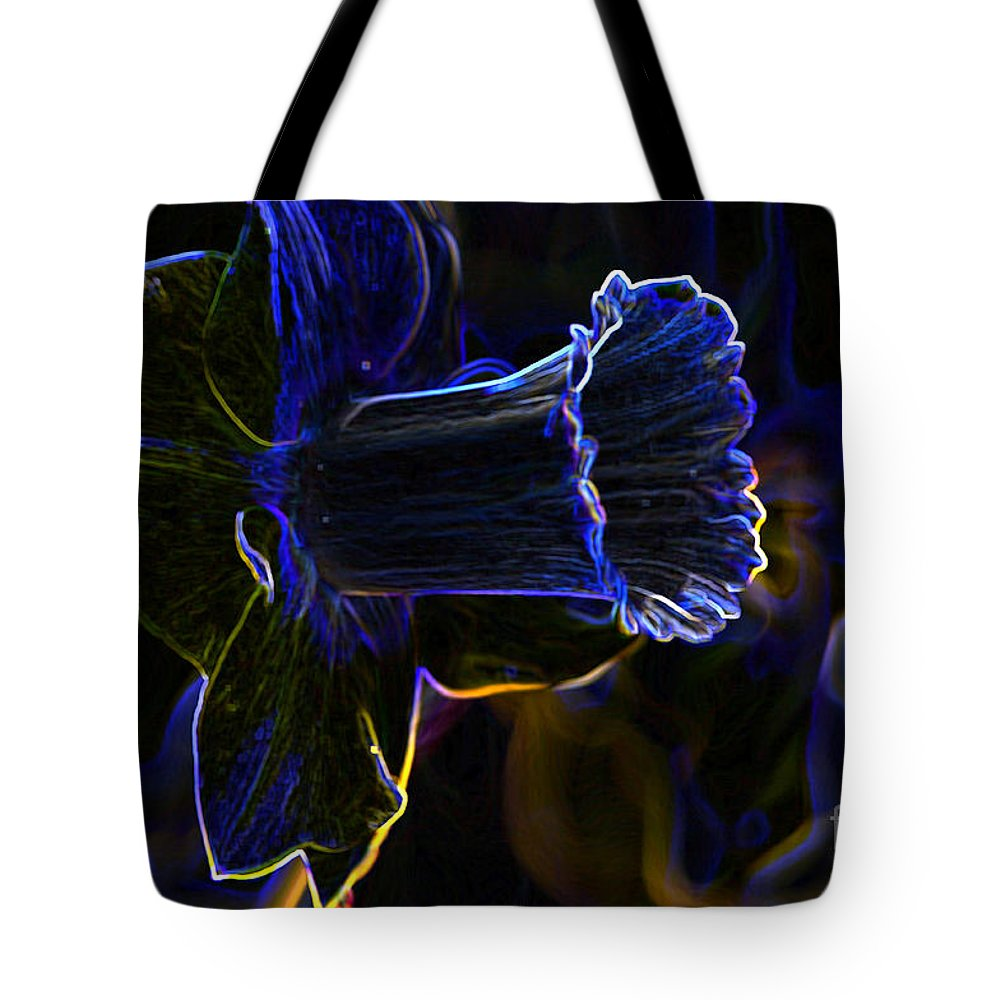 Neon Tote Bag featuring the photograph Neon Flowers by Charles Dobbs