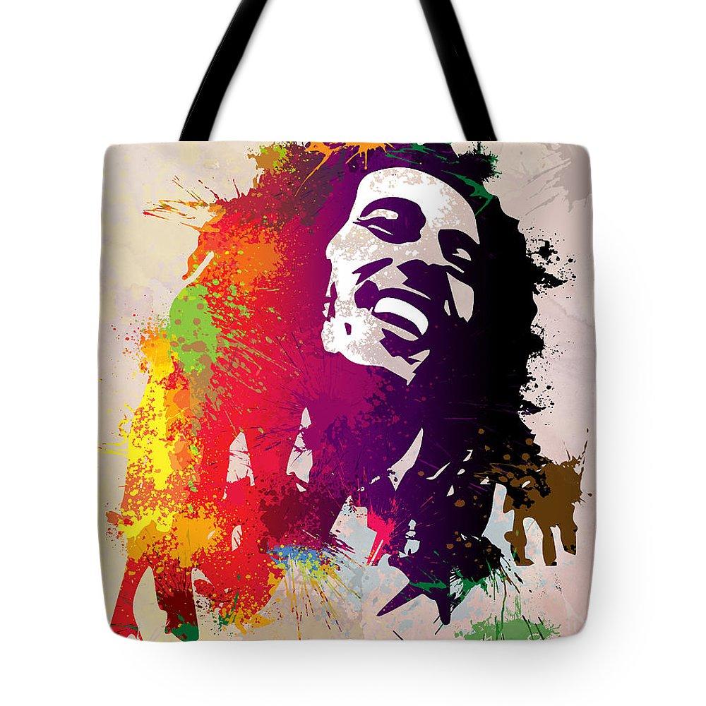 Reggae Tote Bag featuring the painting Nesta Robert by Anthony Mwangi