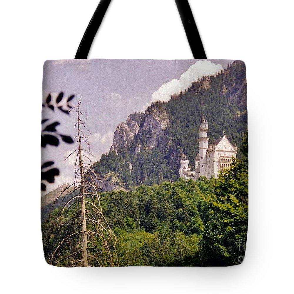 Castle Tote Bag featuring the photograph Neuschwanstein Castle by Halifax Artist John Malone