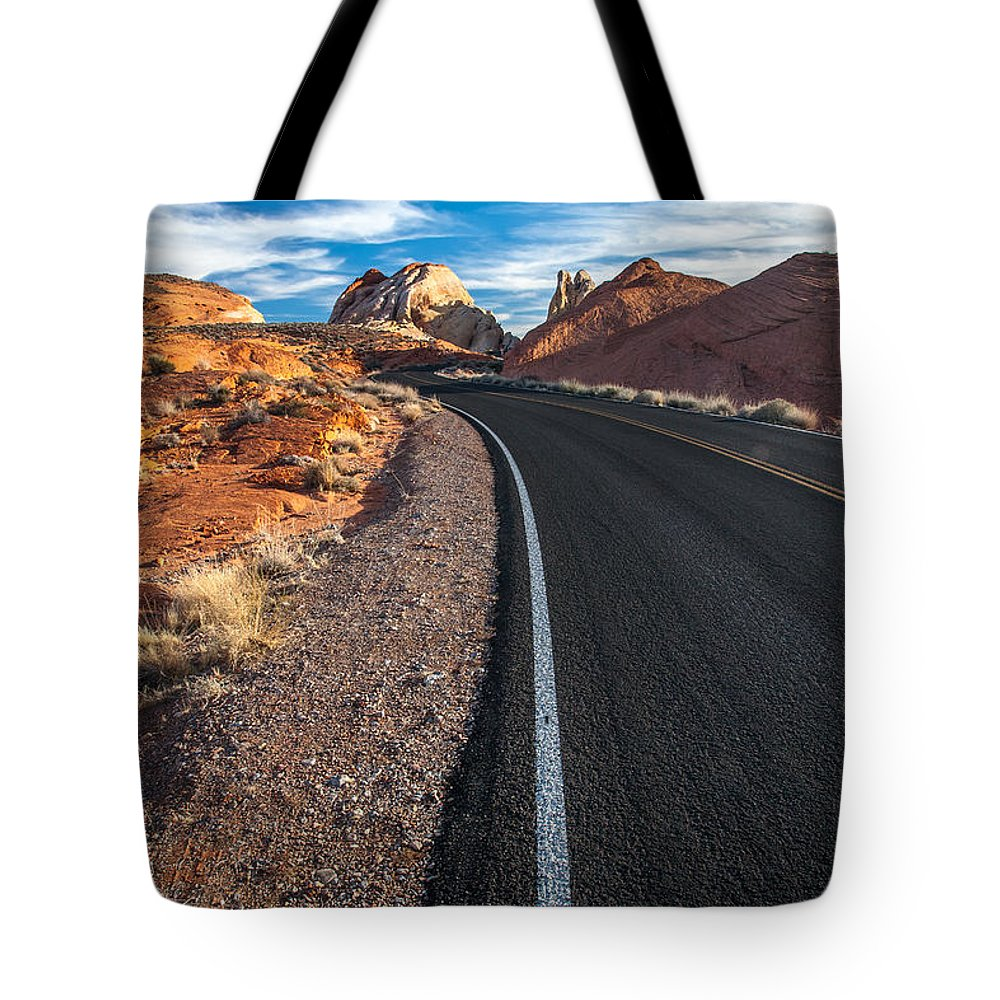 Canyon Tote Bag featuring the photograph Nevada Highways by Peter Tellone