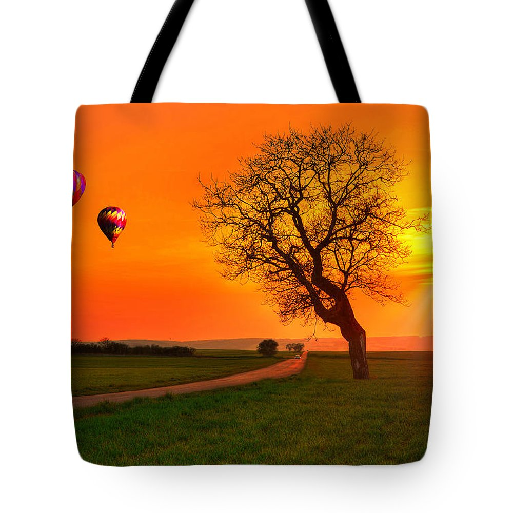 Burgundy Tote Bag featuring the photograph Never Ending Road by Midori Chan