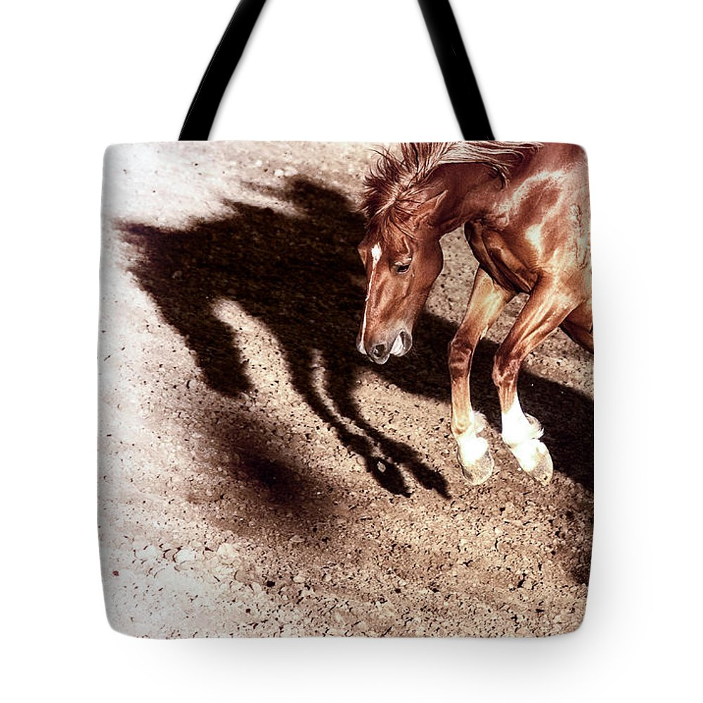 Rodeo Tote Bag featuring the photograph Never Give In by Caitlyn Grasso