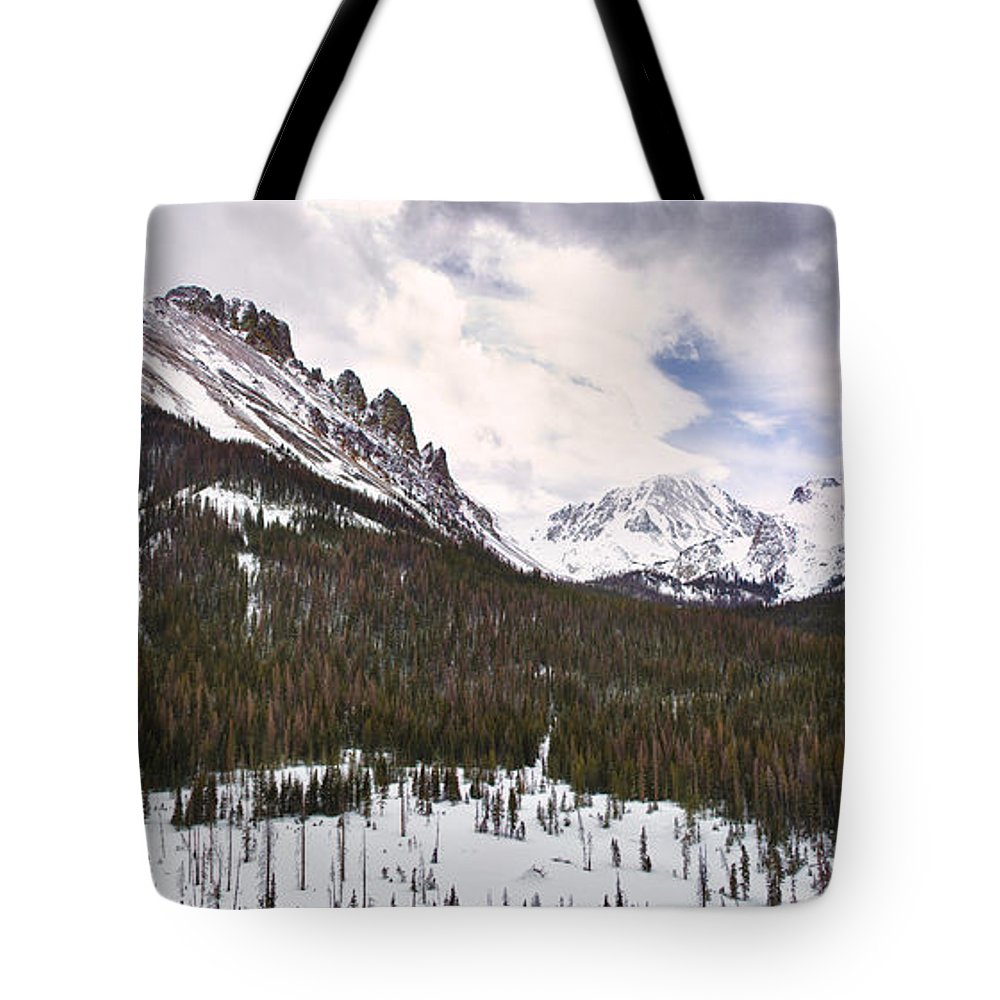 Never Summer Wilderness Tote Bag featuring the photograph Never Summer Wilderness Area Panorama by James BO Insogna