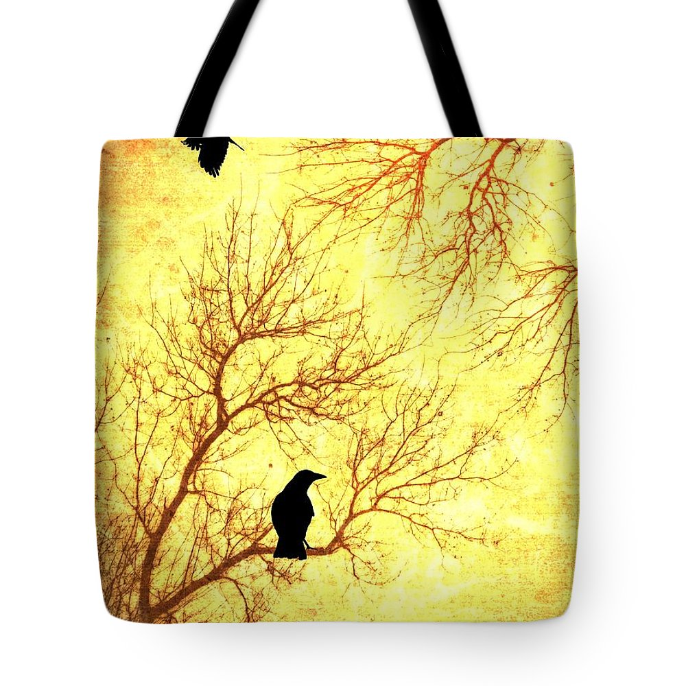Nevermore Tote Bag featuring the mixed media Nevermore by Dan Sproul