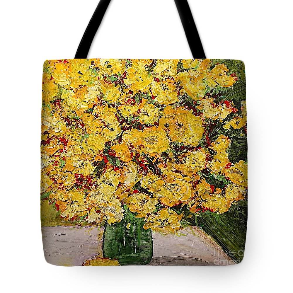 Landscape Tote Bag featuring the painting New Beginnings by Allan P Friedlander