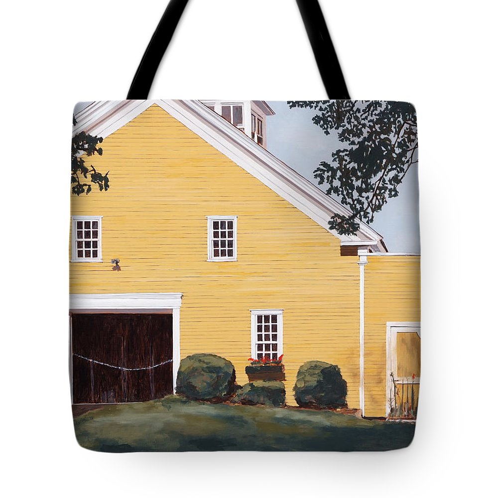 Landscape Tote Bag featuring the painting New England Roots by Craig Morris