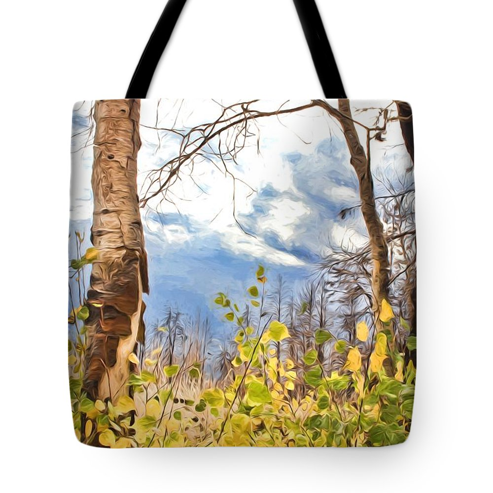 Mixed Media Tote Bag featuring the photograph New Generation - Mixed Media - Casper Mountain - Casper Wyoming by Diane Mintle