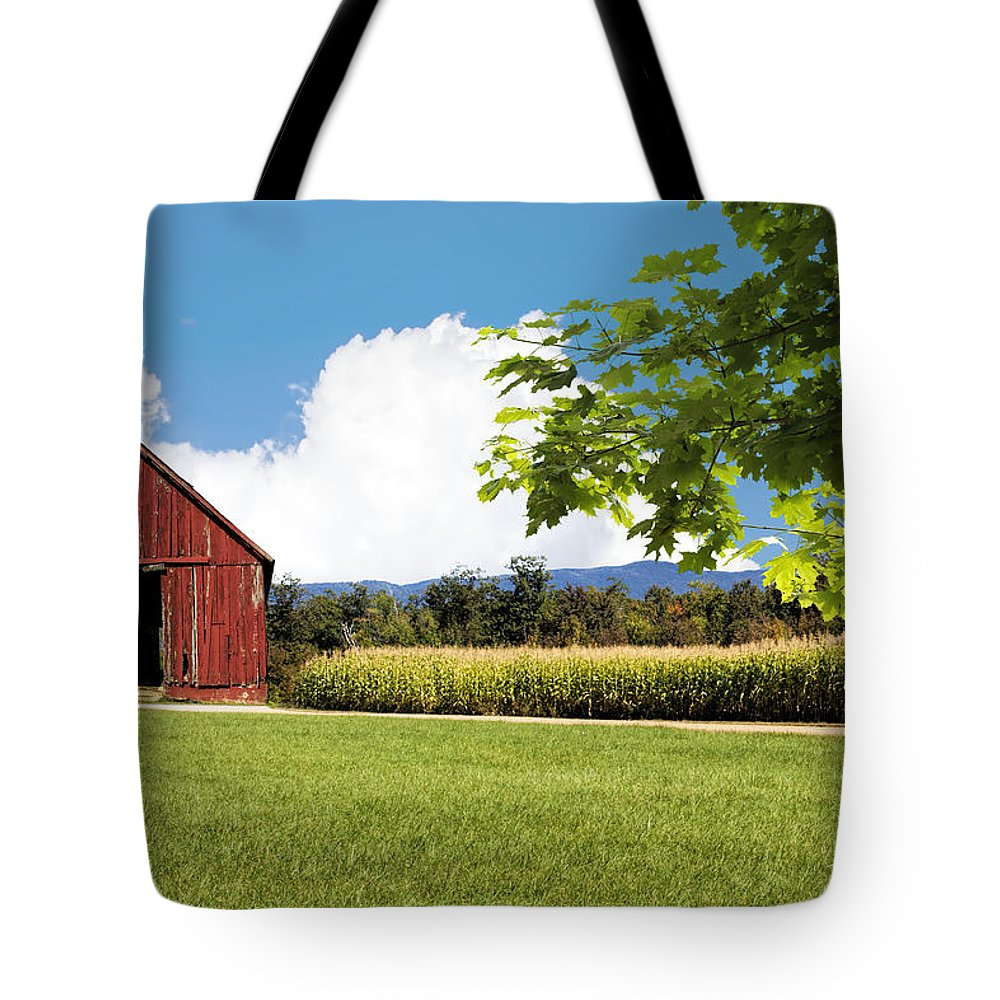 Fred Larson Tote Bag featuring the photograph New Hampshire Barnyard by Fred Larson