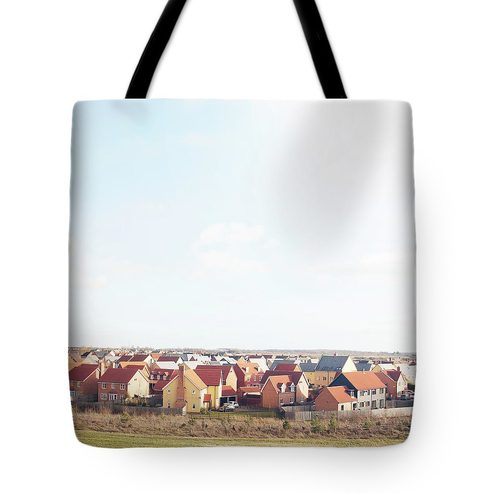 Cambridgeshire Tote Bag featuring the photograph New Houses by Tim Robberts