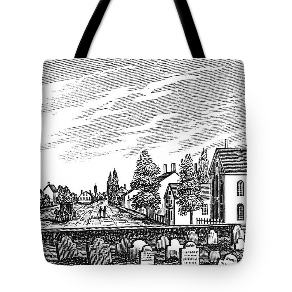 1844 Tote Bag featuring the painting New Jersey Swedesboro by Granger