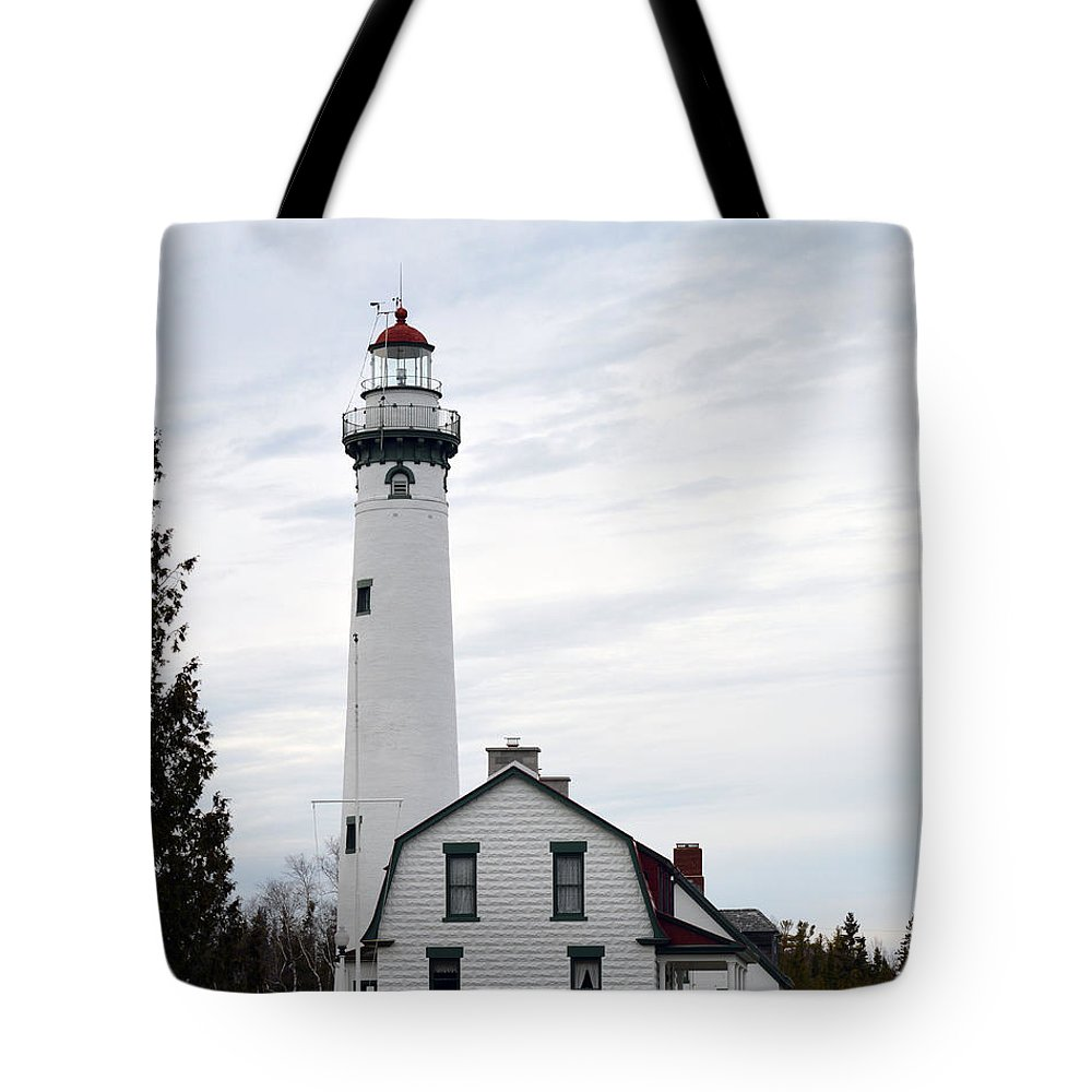 Presque Isle Tote Bag featuring the photograph New Lighthouse At Presque Isle by Linda Kerkau