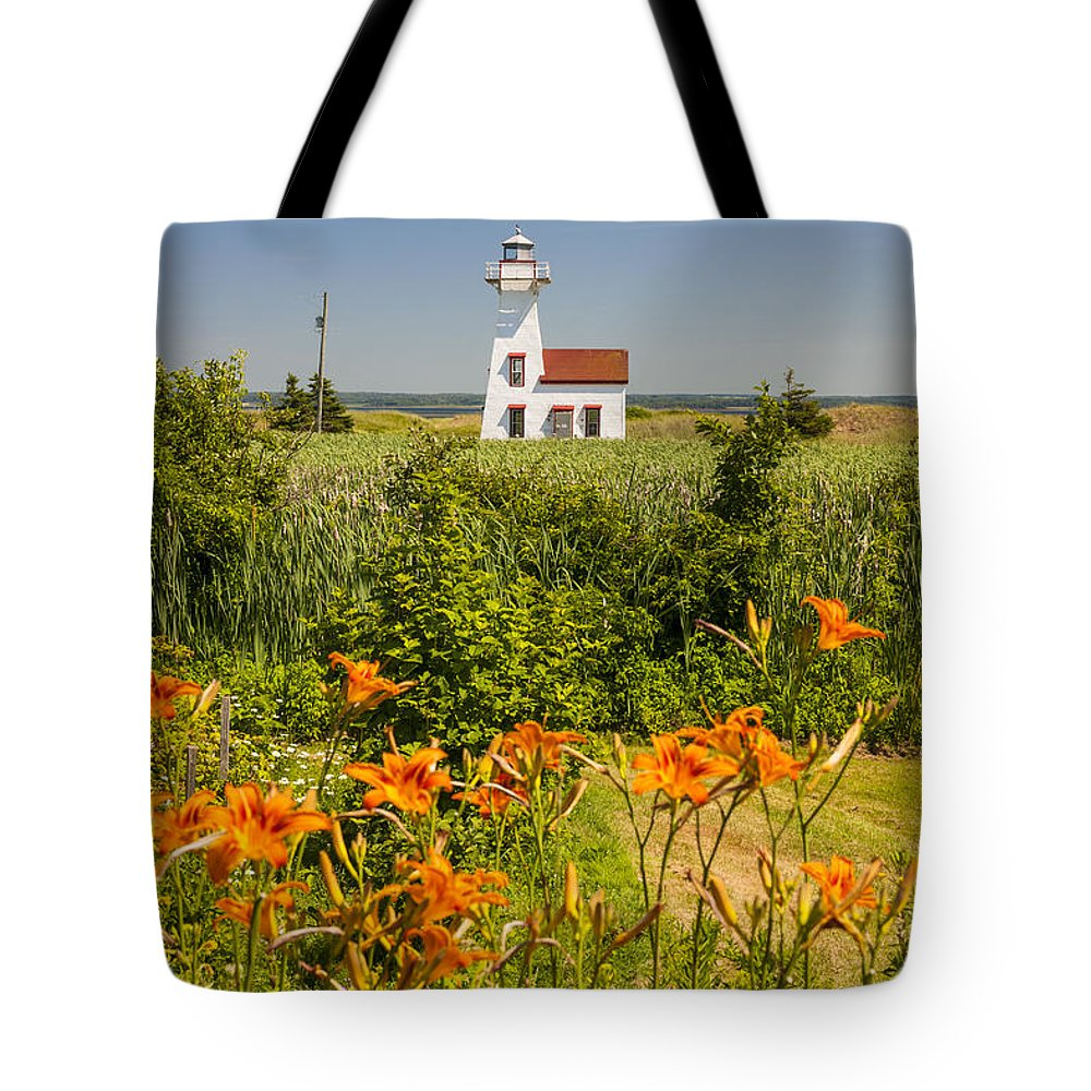 Lighthouse Tote Bag featuring the photograph New London Range Rear Lighthouse by Elena Elisseeva