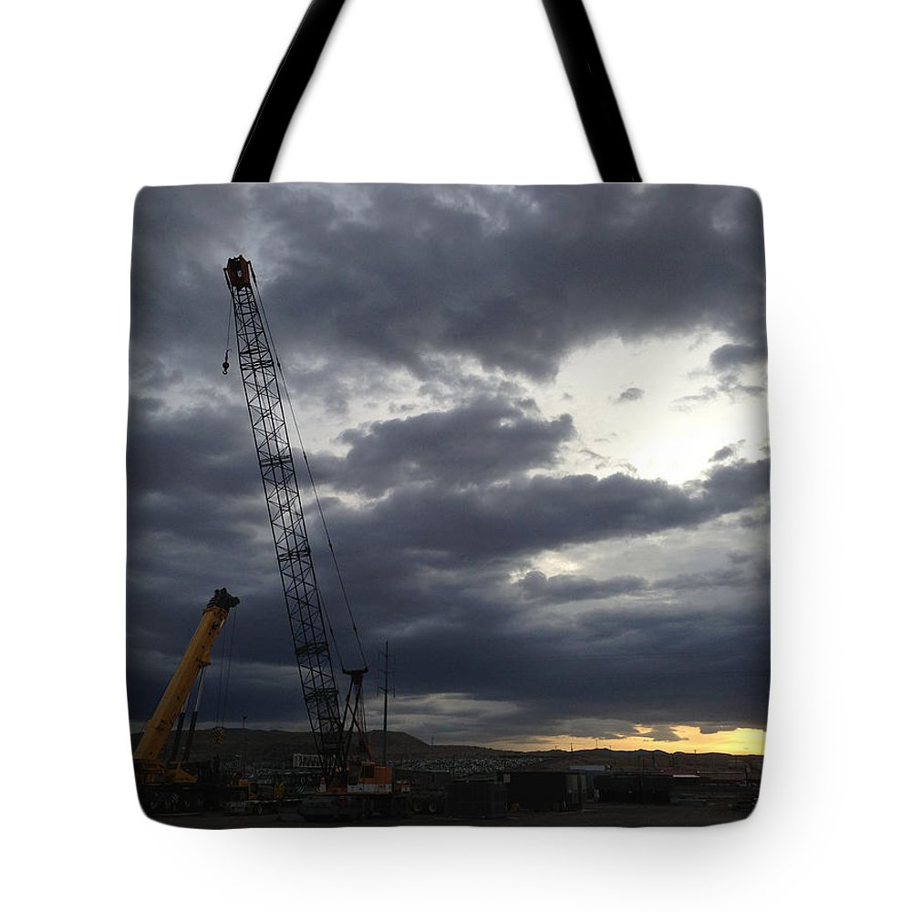 Cloudy Tote Bag featuring the photograph New Mexico Cloudy Sunrise by Chris Martin
