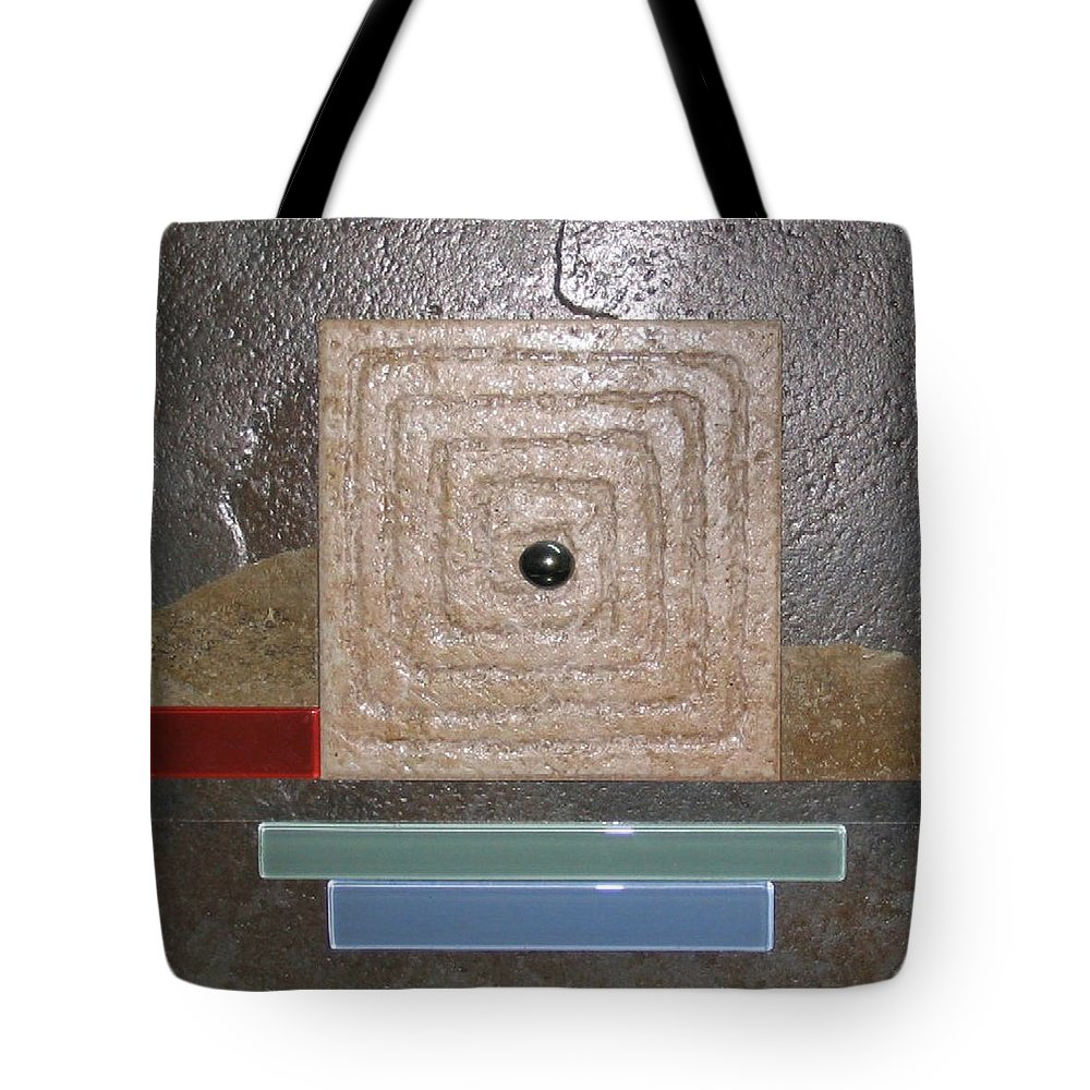 Assemblage Tote Bag featuring the relief New Moon by Elaine Booth-Kallweit