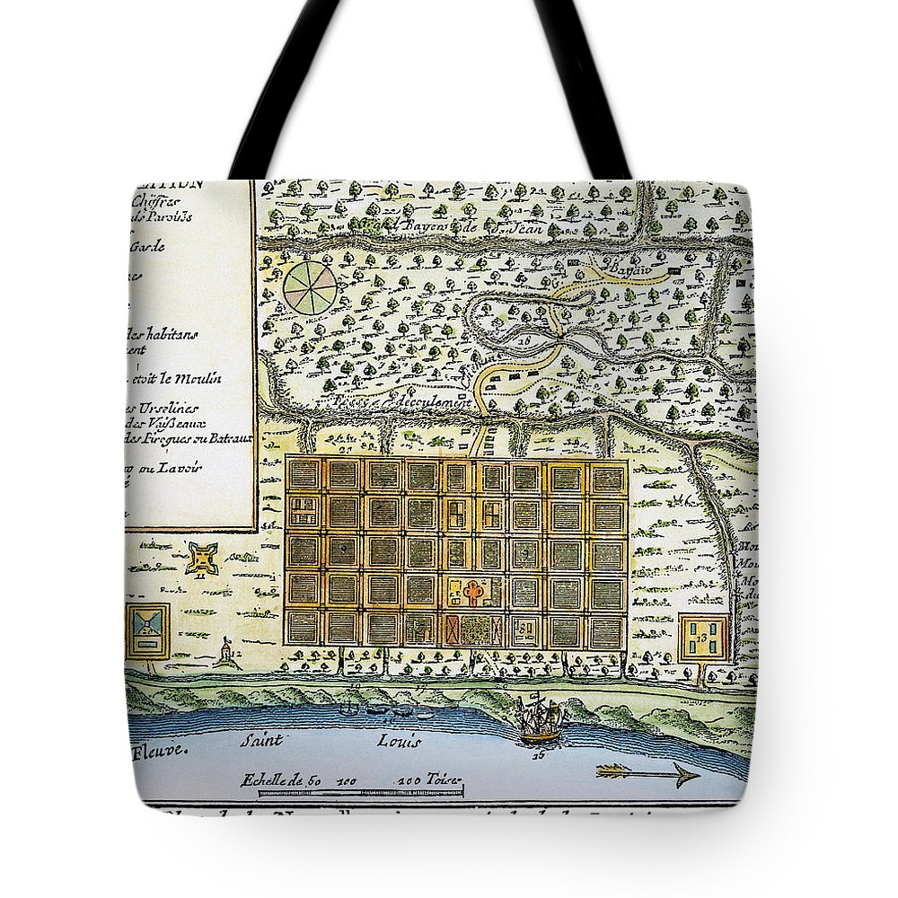 1720 Tote Bag featuring the photograph New Orleans, 1718-20 by Granger