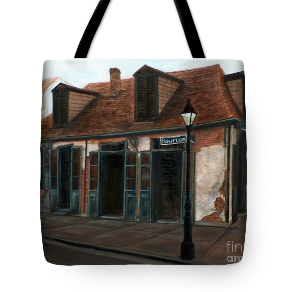 Realism Tote Bag featuring the painting New Orleans Familiar Site Before by M J Venrick