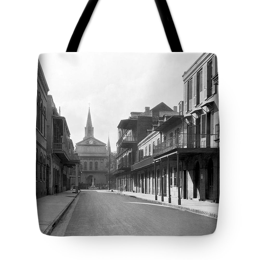 1920s Tote Bag featuring the photograph New Orleans Old French Quarter by Underwood Archives