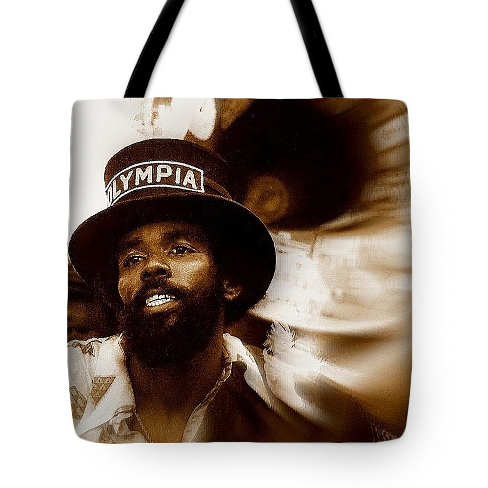 Nola Tote Bag featuring the photograph New Orleans Olympia Second Line Grand Marshall by Michael Hoard