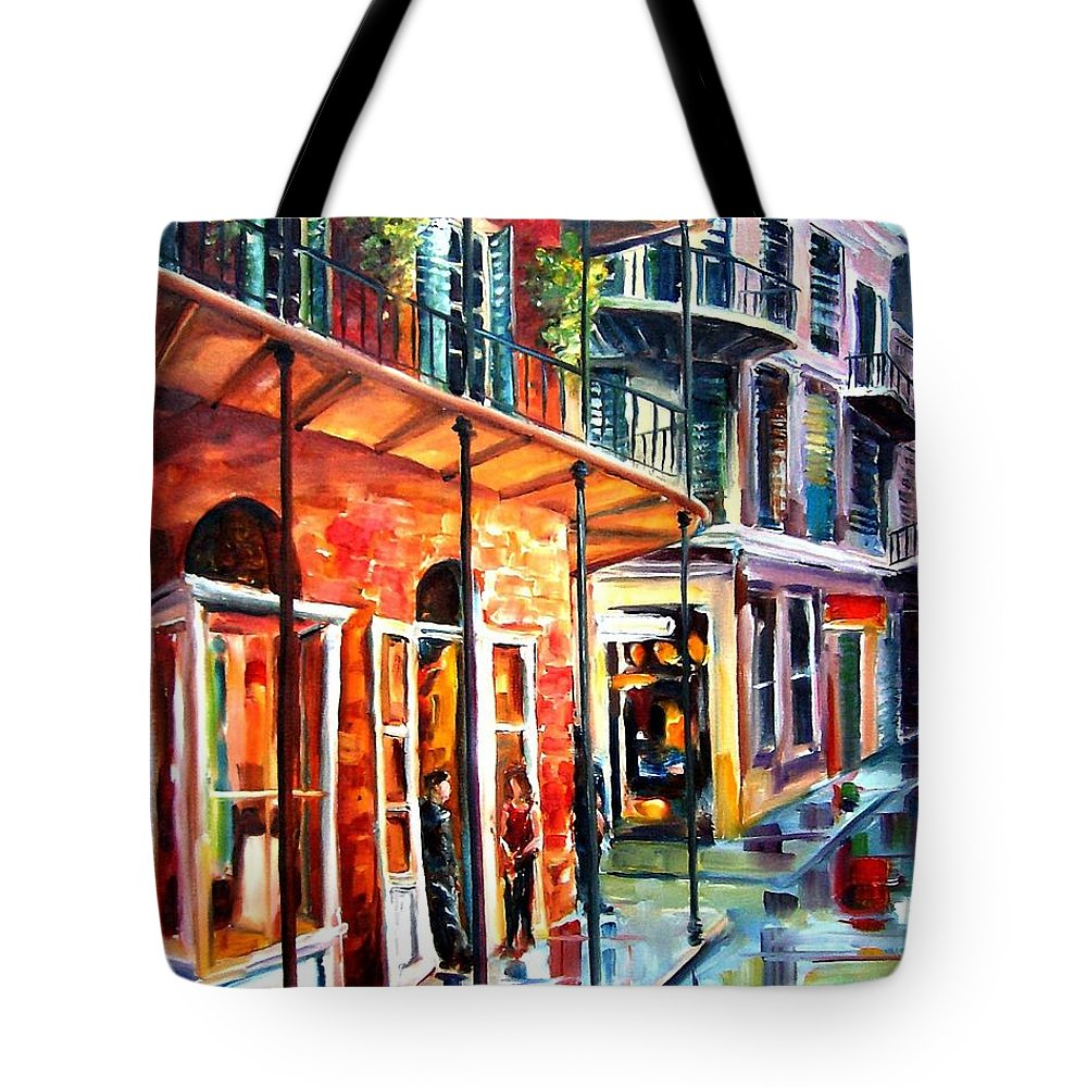 New Orleans Tote Bag featuring the painting New Orleans Rainy Day by Diane Millsap