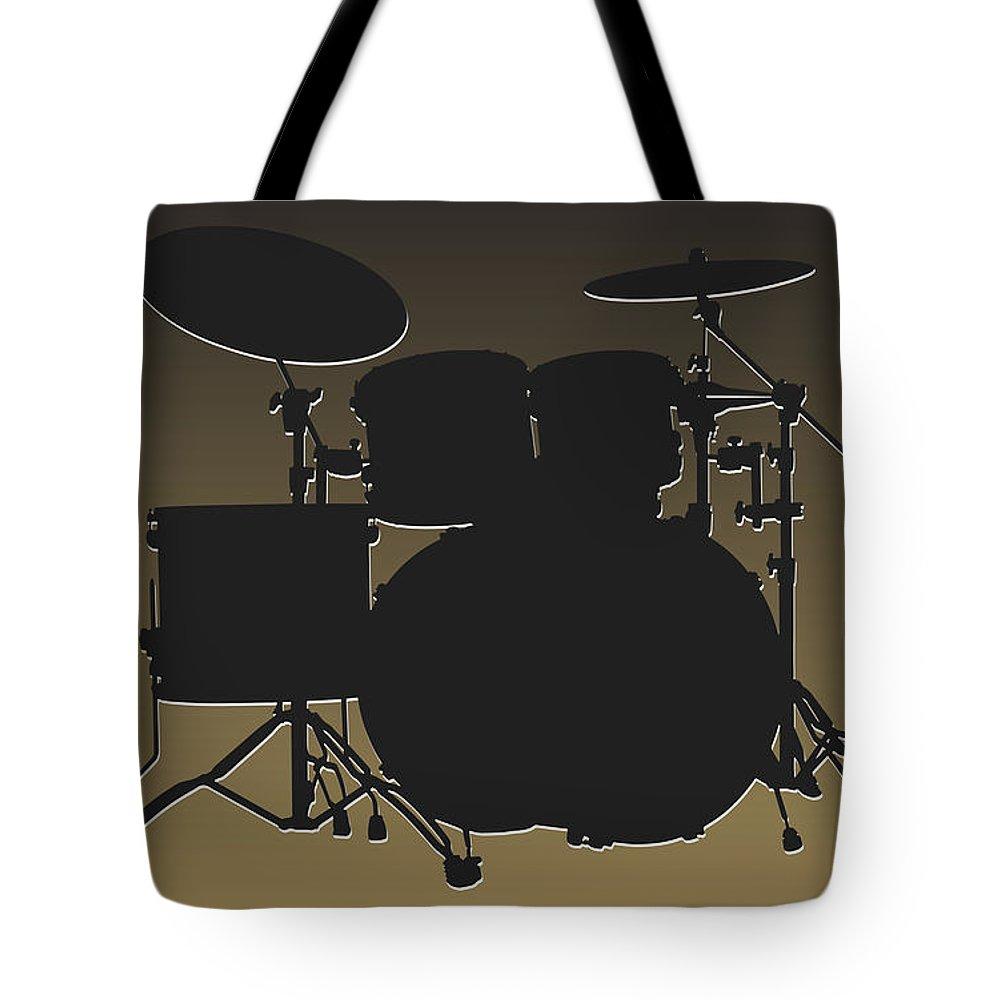 Saints Tote Bag featuring the photograph New Orleans Saints Drum Set by Joe Hamilton