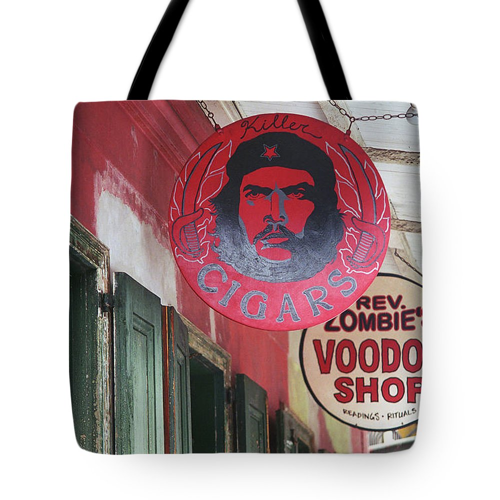 America Tote Bag featuring the photograph New Orleans Shops by Frank Romeo
