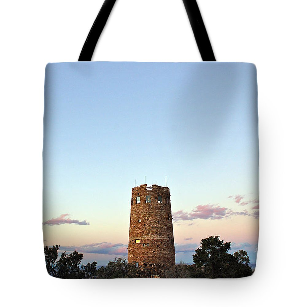 Grand Tote Bag featuring the photograph New Photographic Art Print For Sale Indian Watchtower At Grand Canyon by Toula Mavridou-Messer