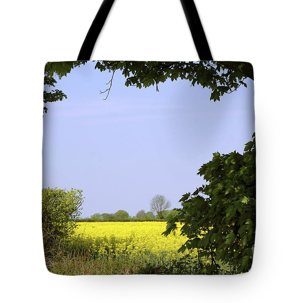 Nature Tote Bag featuring the photograph New Photographic Art Print For Sale Yellow English Fields 3 by Toula Mavridou-Messer