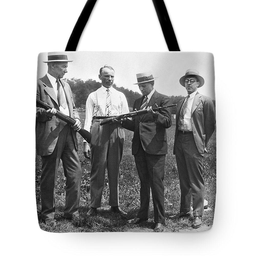 1920s Tote Bag featuring the photograph New Rifles For The Army by Underwood Archives