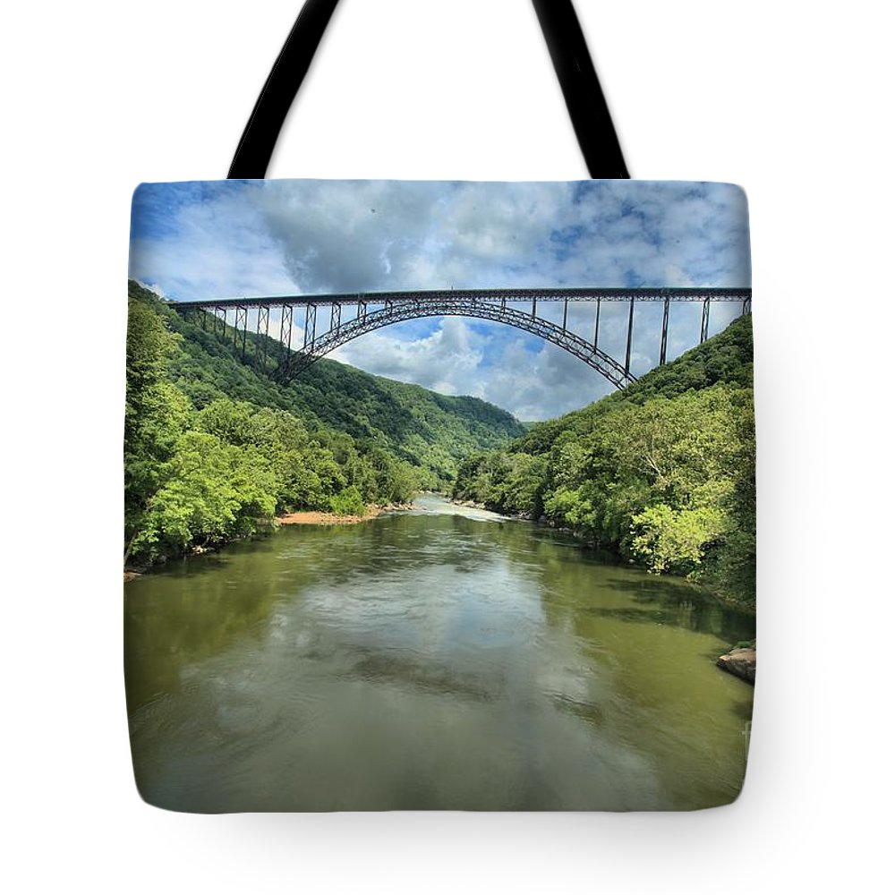 New River Bridge Tote Bag featuring the photograph New River Gorge Bridge by Adam Jewell